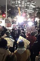 稲田朋美防衛相の南スーダン隠ぺい開き直り答弁に国会前で抗議デモ! 憲法を蹂躙する稲田は即刻辞任しろ!