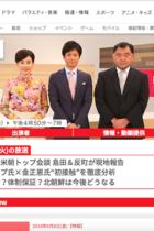 米朝首脳会談前日にフジ『プライムニュース』と反町キャスターが「開催中止」を示唆する勇み足
