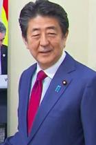 安倍首相が「2019年報道写真展」で台風被害の写真を無視し「日本が輝いた年」とコメント! ラグビー田中選手は被災地への思い語ったのに