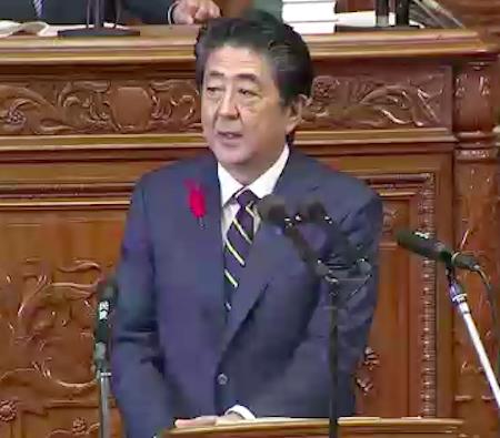 安倍首相が所信表明で「お前が言うか」発言と嘘連発! 侵略戦争と植民地支配をなかったことにし「100年前日本は人種平等を掲げた」の画像1