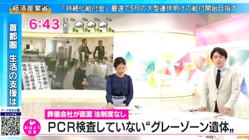 変死者のコロナ感染判明、NHKで葬儀業者が「PCR検査を受けていない遺体」の存在を証言…安倍首相の「死亡者は正確」はやはり嘘の画像1
